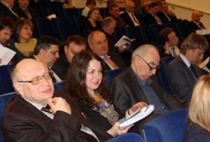 Александр Гримитлин и Марина Гримитлина перед выступлением на круглом столе